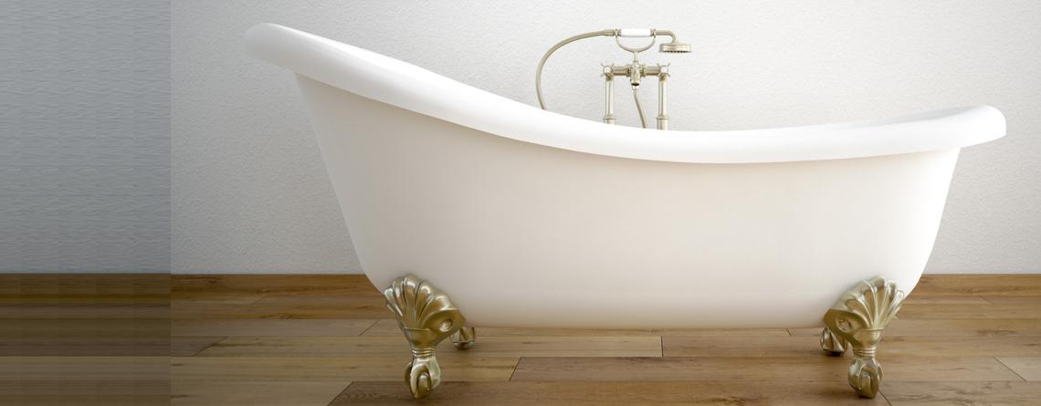Récupération d'éclat sur baignoire neuve